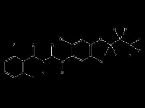 Люфенурон - Структурная формула