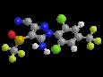 Фипронил - Трехмерная модель молекулы