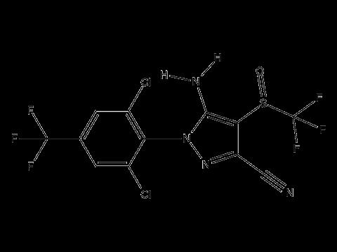 Фипронил - Структурная формула