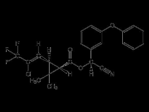 Гамма-цигалотрин - Структурная формула