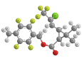 Тефлутрин - Трехмерная модель молекулы