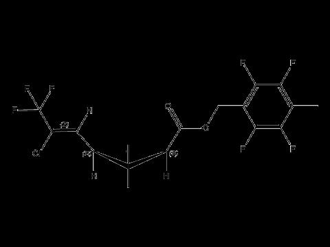 Тефлутрин - Структурная формула
