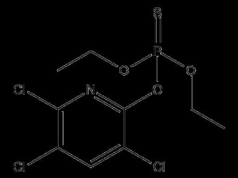 Хлорпирифос - Структурная формула
