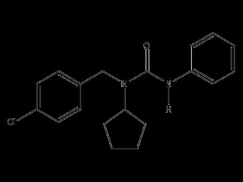 Пенцикурон - Структурная формула