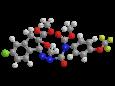 Индоксакарб - Трехмерная модель молекулы