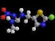 Клотианидин - Трехмерная модель молекулы