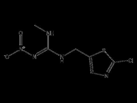 Клотианидин - Структурная формула