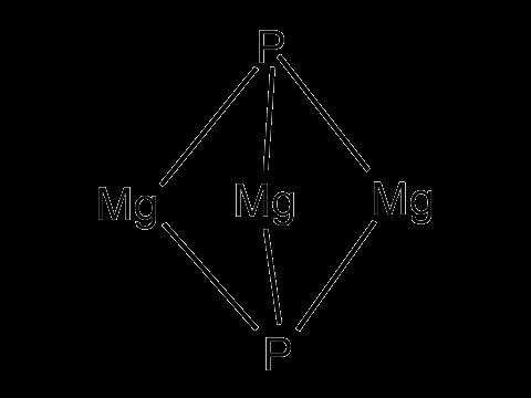 Фосфид магния - Структурная формула