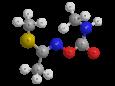 Метомил - Трехмерная модель молекулы