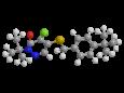 Пиридабен - Трехмерная модель молекулы