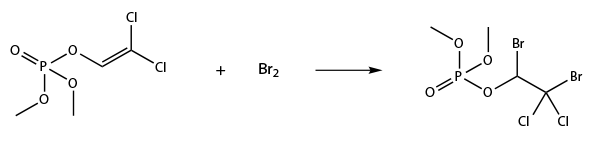 Дихлофос (ДДВФ) - Присоединение молекулы брома