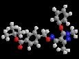 Фенпироксимат - Трехмерная модель молекулы