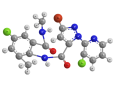 Хлорантранилипрол - Трехмерная модель молекулы