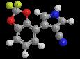 Флудиоксонил - Трехмерная модель молекулы