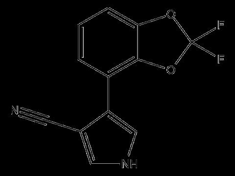 Флудиоксонил - Структурная формула