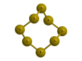 Сера - Трехмерная модель молекулы