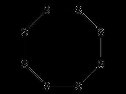 Сера - Структурная формула