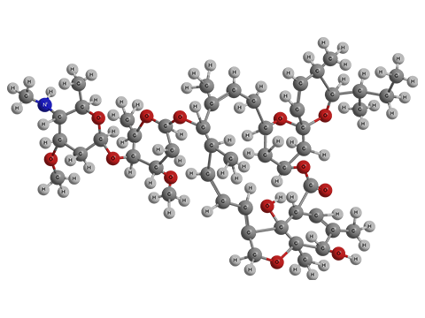 Эмамектина бензоат - Трехмерная модель молекулы изомера B1a