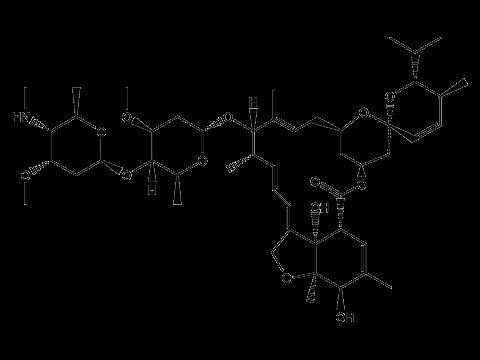 Эмамектина бензоат - Структурная формула изомера B1b