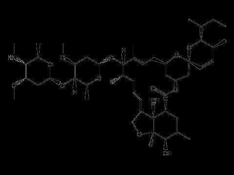 Эмамектина бензоат - Структурная формула изомера B1a