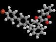 Бродифакум - Трехмерная модель молекулы