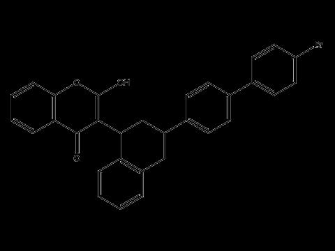 Бродифакум - Структурная формула