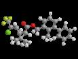 Бифентрин (Талстар) - Трехмерная модель молекулы
