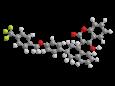 Флокумафен - Трехмерная модель молекулы