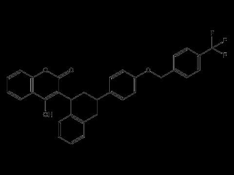 Флокумафен - Структурная формула