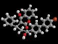 Бромадиолон - Трехмерная модель молекулы