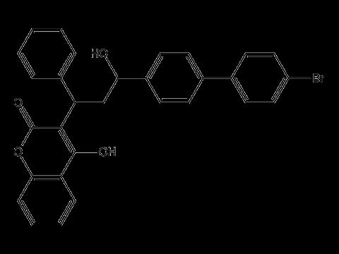 Бромадиолон - Структурная формула