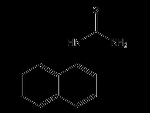 Альфа-Нафтилтиокарбамид (Крысид) - Структурная формула