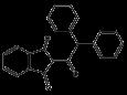 Дифенацин (Ратиндан) - Структурная формула