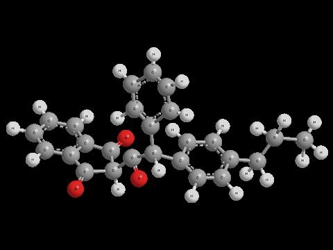 Трифенацин - Трехмерная модель молекулы этилфенацина
