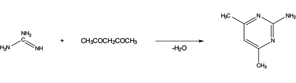 Сульфометурон-метил - Полученение 2-амино-4,6-диметилпиримидина, </p>необходимого для синтеза </p>сульфометурон-метила