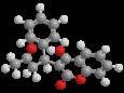 Варфарин (Зоокумарин) - Трехмерная модель молекулы