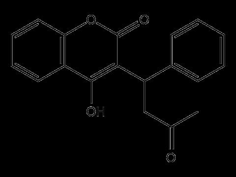 Варфарин (Зоокумарин) - Структурная формула