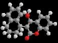 Куматетралил - Трехмерная модель молекулы