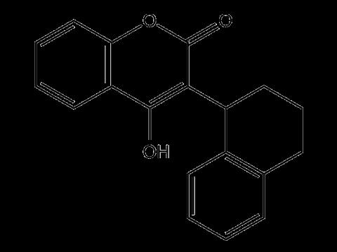 Куматетралил - Структурная формула