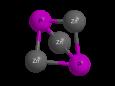 Фосфид цинка - Трехмерная модель молекулы