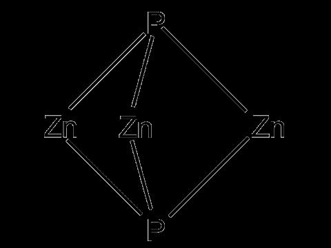 Фосфид цинка - Структурная формула