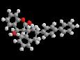 Дифенакум - Трехмерная модель молекулы