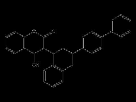 Дифенакум - Структурная формула