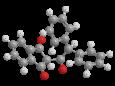 Тетрафенацин - Трехмерная модель молекулы