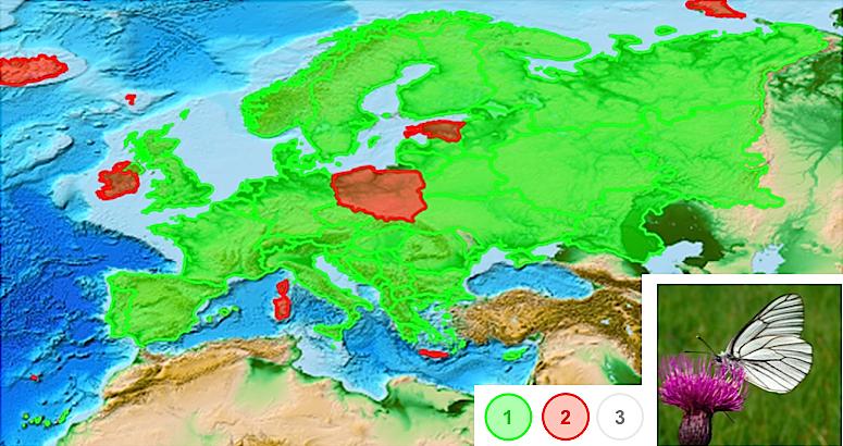 Ареал - Европейский ареал распространения  боярышницы