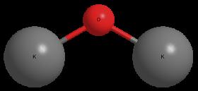 Оксид калия - Трехмерная модель молекулы