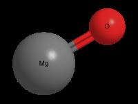 Оксид магния - Трехмерная модель молекулы