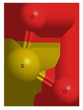 Оксид серы (IV) - Трехмерная модель молекулы