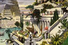 Гидропоника - Сады Семирамиды. Мартин ван Хемскерк, гравюра
