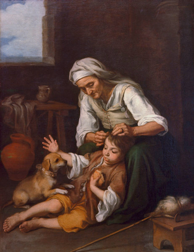 Семейство Педикулиды - Картина Б.Мурильо «Туалет»